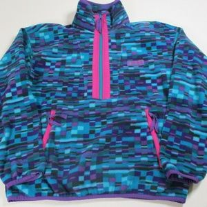 VTG 90s Columbia Fleece W Sz Med Geometric